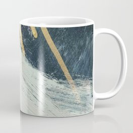 Karma: a bold abstract in blues and gold Coffee Mug