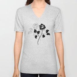 Two Roses Unisex V-Neck