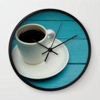 coffe Wall Clocks featuring Coffe by Camaracraft