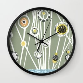 Sage Meadow Wall Clock