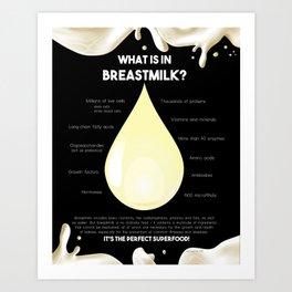 What is in breastmilk? Art Print
