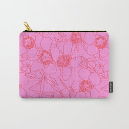 Australian Waxflower Line Floral in Pink Carry-All Pouch