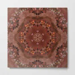 Hardwood Hill Brown Kaleidoscope Metal Print