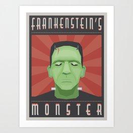Frankenposter Art Print