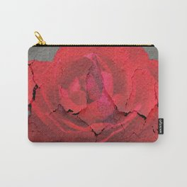 SHABBY CHIC RED ROSE GARDEN  GREY ART Carry-All Pouch