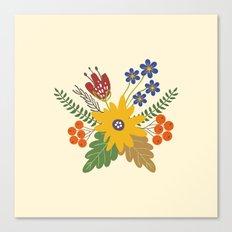Autumn Fall Flower Bouquet Canvas Print