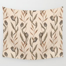 Poppy Pod Pattern Wall Tapestry