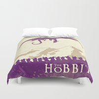 the hobbit Duvet Covers featuring The Hobbit by WatercolorGirlArt
