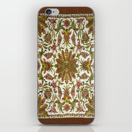18th Century Embroidery iPhone Skin