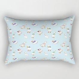 Cute Watercolor Ducks Rectangular Pillow