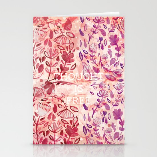 Thought is Free Stationery Cards