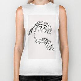 Black & white skeleton of the beast Biker Tank