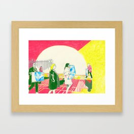 pale blue dot Framed Art Print