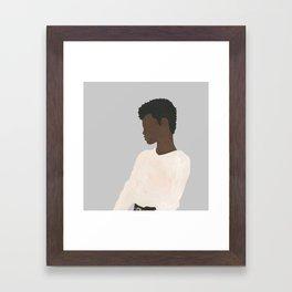 Ivory Sweater Framed Art Print
