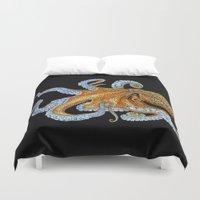 octopus Duvet Covers featuring Octopus by Tim Jeffs Art