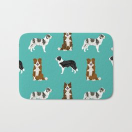Border Collie mixed coats dog breed pattern gifts collies dog lover Bath Mat