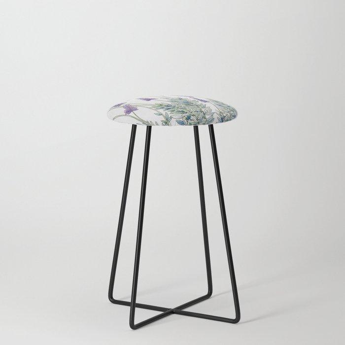 Lavender, Illustration Counter Stool