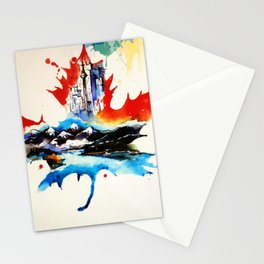 Vintage Canada Maple Leaf Travel Love Watercolor Stationery Cards