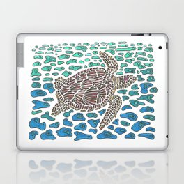 Vanishing Sea Turtle by Black Dwarf Designs Laptop & iPad Skin