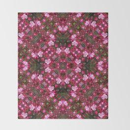 Spring blossoms kaleidoscope - Strawberry Parfait Crabapple Throw Blanket