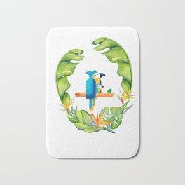 Nature bird / Nature design carton / Psittaciformes/ nature parrot/  2019 unisex t-shirt Bath Mat