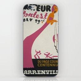 Vintage poster - Amateur Contest iPhone Skin