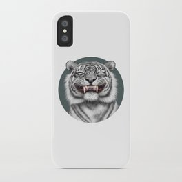 Smiling Tiger - monotone iPhone Case
