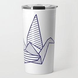 Swan, navy lines Travel Mug