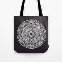 spiritual Tote Bags featuring Spiritual Mandala by msimona