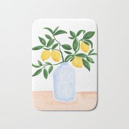 Lemon Tree Branch in a Vase Bath Mat