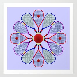 Racquetball Design Art Print