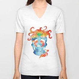 Sally sells sea skulls by the seashore Unisex V-Neck