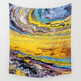 African landscape, acrylic on canvas Wall Tapestry