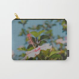 Soft Pink Hibiscus Carry-All Pouch