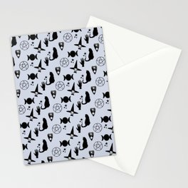 Creepy Cute Halloween Witch Design Stationery Cards