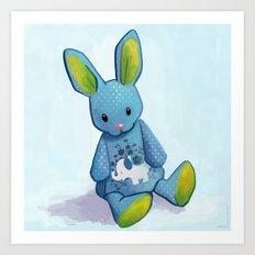 Le lapin qui rêvait d'être un éléphant Art Print