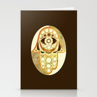 hamsa Stationery Cards featuring Hamsa by S.G. DeCarlo