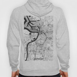 Antwerp Map Gray Hoody