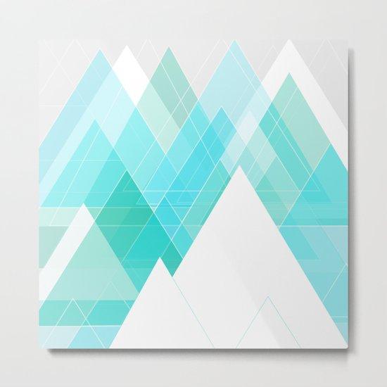Icy Grey Mountains Metal Print