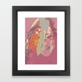 Brain tease Framed Art Print