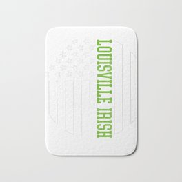 Louisville Irish graphics by Howdy Swag design Bath Mat