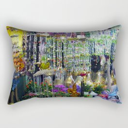 Trinkets and Color Rectangular Pillow