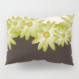Green Daisy Pillow Sham