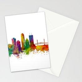 Jacksonville Florida Skyline Stationery Cards