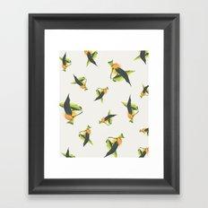Tangerine Pattern Framed Art Print
