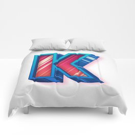 The Letter K Comforters