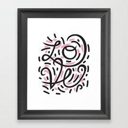 Active LOVE Framed Art Print