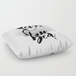 Lets Stay In Bed Typography Quote Floor Pillow
