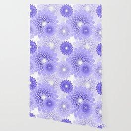Spiral Flower pattern Wallpaper