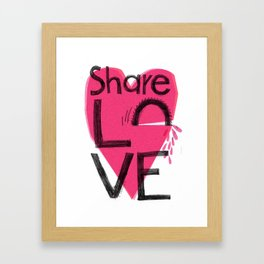 Share love Framed Art Print